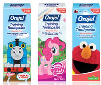 Fluoride-free training toothpaste